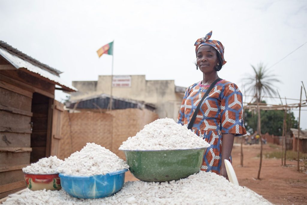 Central African refugee woman and her income-generating activity